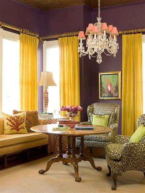 purple  yellow   bedroom  purple rooms