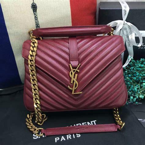 ysl top handle shoulder bag cm dark red gold  dark red gold  replica ysl