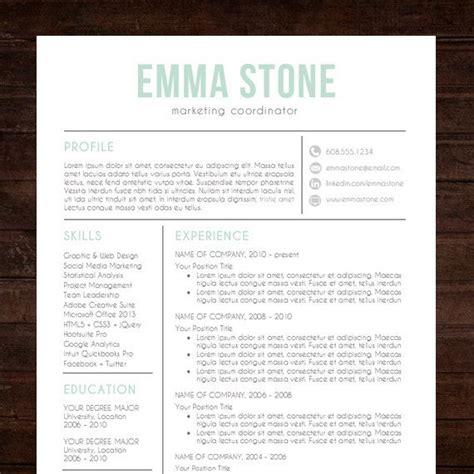 creative resume template modern design mac or pc word