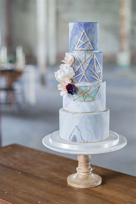 geometric wedding cakes  totally amaze  guests
