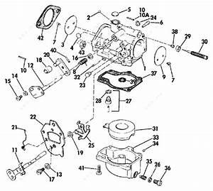 Evinrude 1974 50 - 50473m  Carburetor