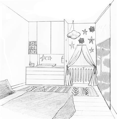 dessin chambre bébé fille coin bébé dans la chambre des parents nanterre