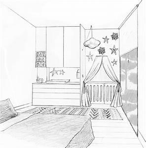 coin bebe dans la chambre des parents nanterre With dessin chambre d enfant
