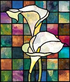 cala lilly calla stained glass pattern