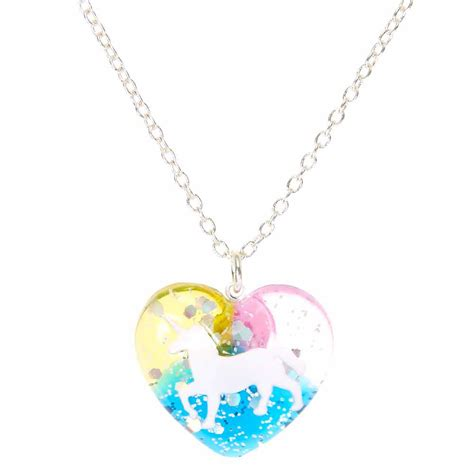Rainbow Unicorn Heart Pendant Necklace  Claire's Us. Princess Cut Infinity Band Engagement Ring. Jewelry Beads Wholesale. Simple One Diamond Engagement Rings. Holly Blue Gemstone. Cute Necklace. Green Stud Earrings. Globe Pendant. Indian Gold Chains