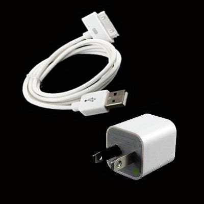 iphone 4s charger ac wall charger and usb data sync cable for ipod touch