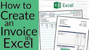 how to create an invoice in excel free invoice template With how to design an invoice in excel