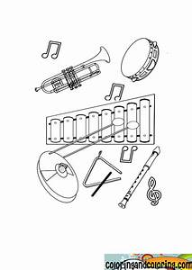 Free musical instruments coloring pages