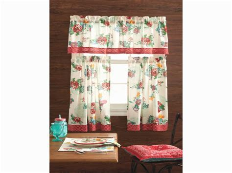 Kitchen: Turquoise Kitchen Curtains Elegant Pioneer Woman