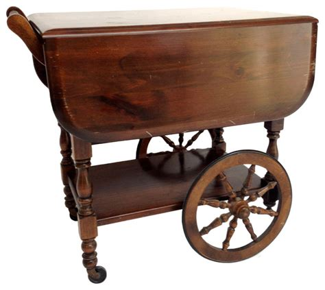 sunset trading kitchen island georgian style drop leaf tea cart