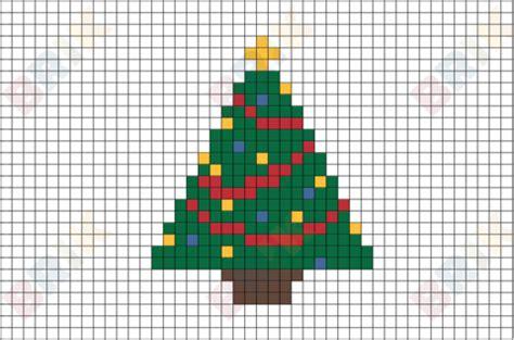 christmas tree pixel art brik