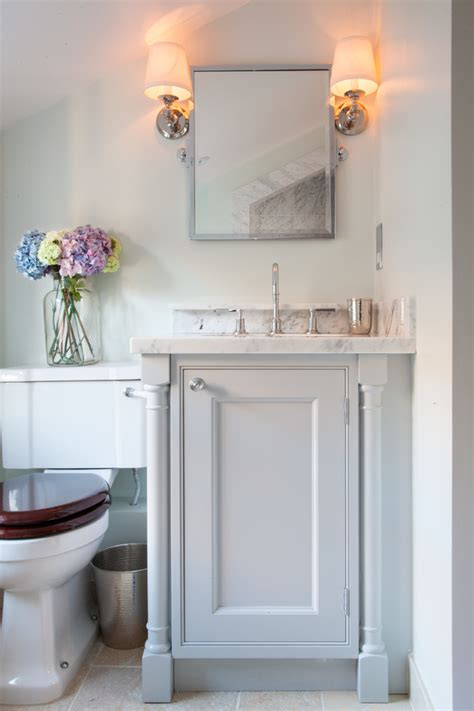 Small Bathroom With Vanity by Small Bathroom Vanity Powder Room Traditional With Colour