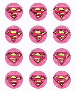 Supergirl Logo Inspired Edible Icing Cupcake or Cookie