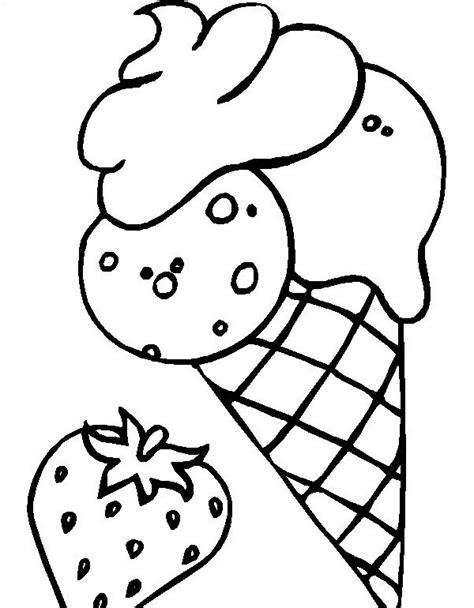 disegni cono gelato da colorare disegni da colorare cono gelato alla fragola disegni da