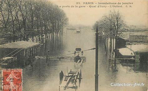 cpa 75013 quot la porte de la gare quot inondations 75 13 eme arrondissement