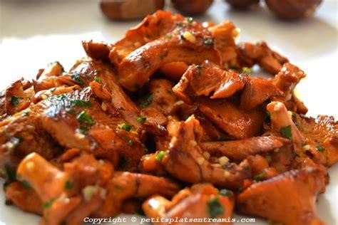 recette de fricass 233 e de girolles petits plats entre amis