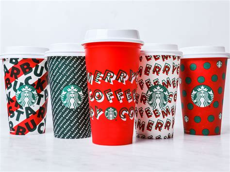 starbucks unveils holiday cup designs   food wine