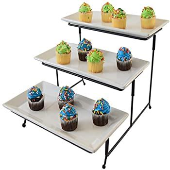 amazoncom  tier serving tray cake stand  tiered dessert tray food server display rack