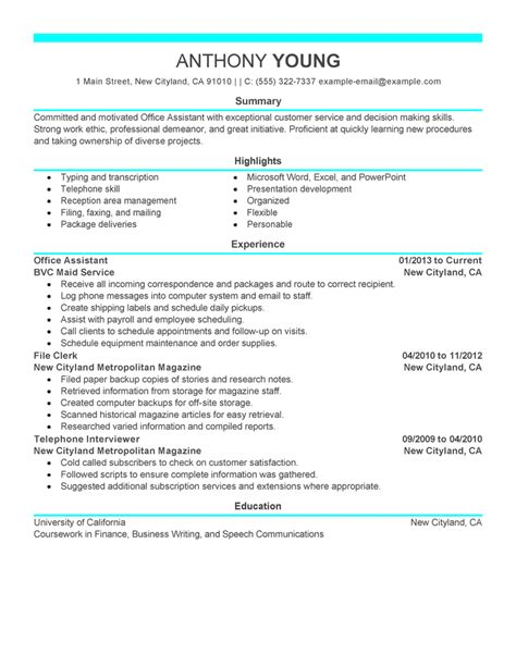 Specimen Of Resume by Free Resume Exles By Industry Title Livecareer