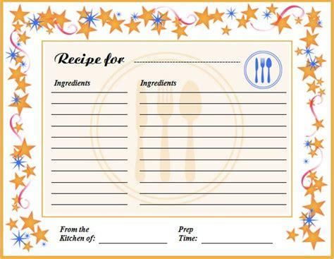 recipe template excel creative professional cooking recipe card template word excel templates