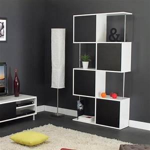 Etagère Design Pas Cher : etag re design semi ferm e coloris blanc noir rosabelle ~ Dailycaller-alerts.com Idées de Décoration
