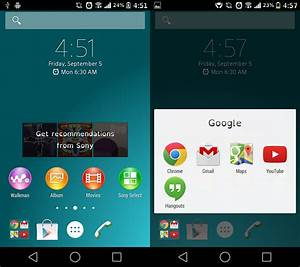 Sony Xperia Z3 Home Launcher and Widgets Ported