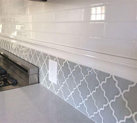 Backsplash In My New Kitchen Subway Tiles And Arabesque
