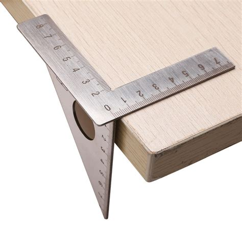 stainless steel woodworking ruler square layout miter
