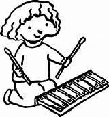 Xylophone Coloring Drawing Activity Glockenspiel Pages Instruments Wecoloringpage Musical Getdrawings Clipartmag sketch template