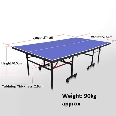 vic up 25mm pro tournament size table tennis ping pong table with net ebay