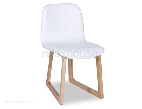 modern white upholstered wood dining chair