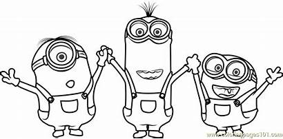 Minions Minion Coloring Cartoon Drawing Colouring Pages