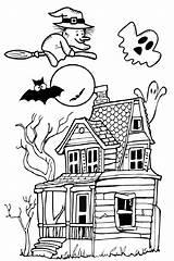 Halloween Spooky Haunted Coloring Colorare Raccolta Bambini Printable Adults Printcolorcraft Migliori Delle Immagini sketch template