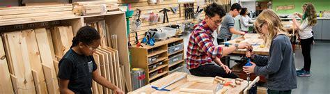 wood shop teacher  class  middle school students