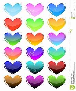 Colorful Hearts Stock Images - Image: 34272704