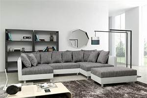 Ecksofa Billig Kaufen : sofa couch ecksofa eckcouch in weiss hellgrau eckcouch mit hocker minsk xxl ebay ~ Markanthonyermac.com Haus und Dekorationen