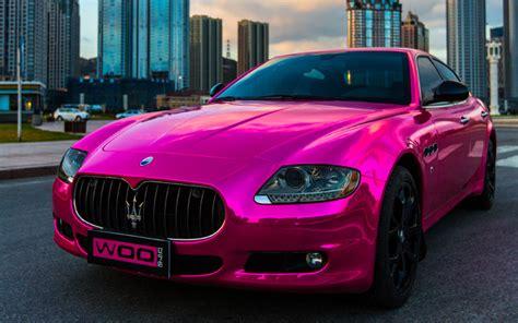 Woah Chrome Pink Nissan Gt R Maserati Quattroporte