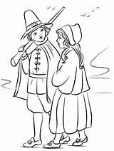 Pilgrim Children Coloring Printable Categories sketch template