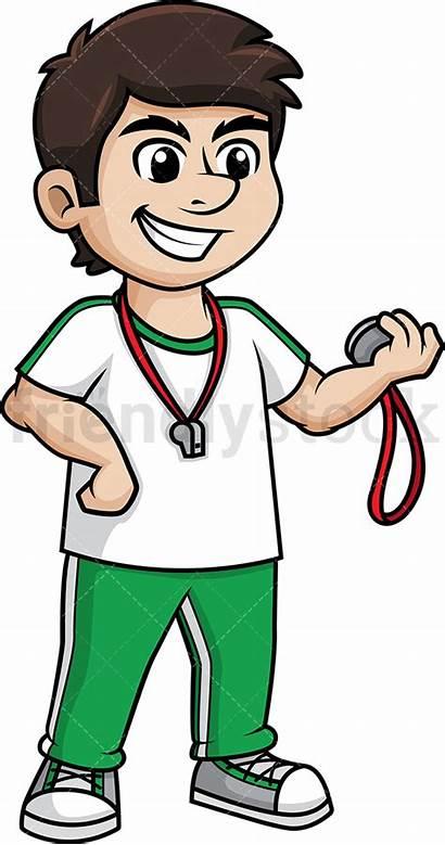 Teacher Gym Clipart Male Cartoon Teaching Friendlystock