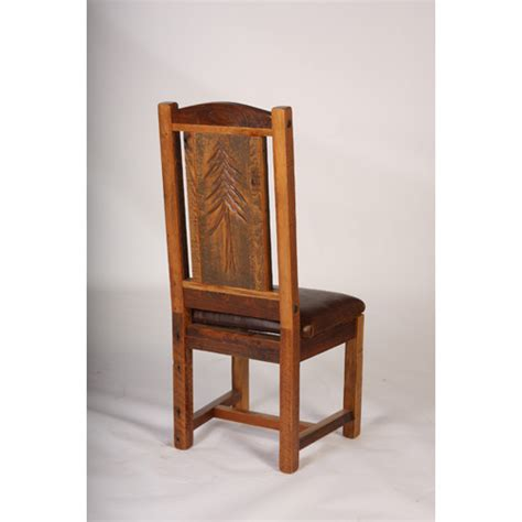 sequoia side chair with leather seat green gables