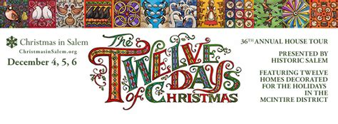 Celebrate The Twelve Days Of Christmas  Christmas In Salem