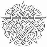 Celtic Mandala Pentacle Patterns Designs Embroidery Coloring Knotwork Knots Pages Knot Urbanthreads Pagan Quilt Paper Unique Urban Threads Pentagram Wiccan sketch template