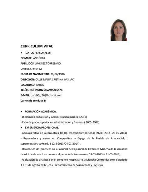 Curriculum Vitae Pdf by Curriculum Vitae Ang 233 Lica Pdf