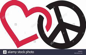Love and peace signs intertwined Stock Vector Art ...