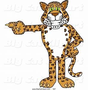 Big Cat Cartoon Vector Clipart of a Cute Cheetah, Jaguar ...