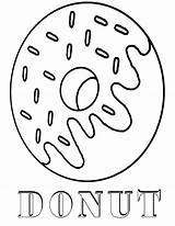 Coloring Donut Pages Printable sketch template