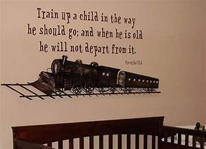 Religious Inspirational Wall Art Train Up a Child