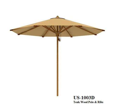 teak wood garden umbrella us 1003d zebano