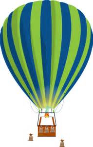 Blue Hot Air Balloon Clip Art