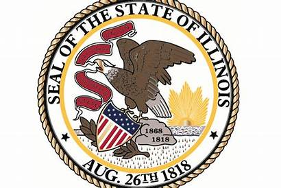 Seal State Illinois Filled Story Bicentennial 1818
